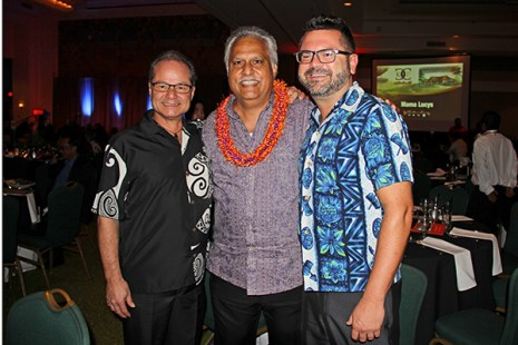 Left to right, Joe Carrillo, Kipukai Kualii and Mark Perrillo