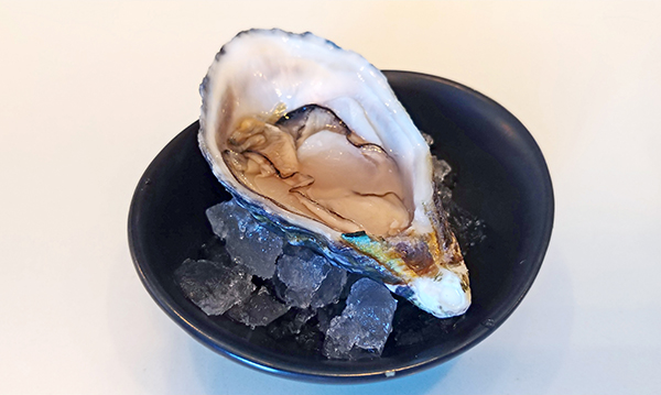 This Hawaiian Oyster of the Kumamoto variety is farmed on O'ahu. It somehow tasted warmer and brighter than the others. Oysters are typically found in colder climates but farming allows us to enjoy oysters year-round in a variety of settings.