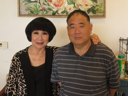 Mrs. Oki, with her son, Ryan Ogata. Mrs. Oki is a veteran restaurateur of Kaua'i. You can find her in the newest Oki incarnation at Kukui Grove.