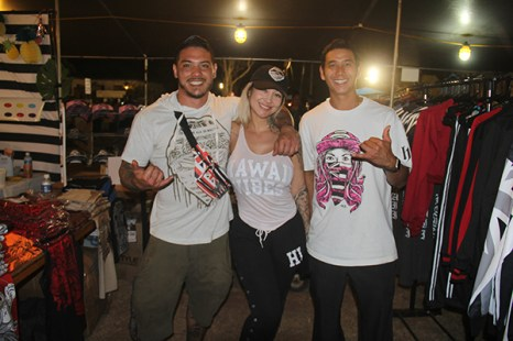 Left to right, Ryan Watanabe, Allie Venturi and Alfred Farias