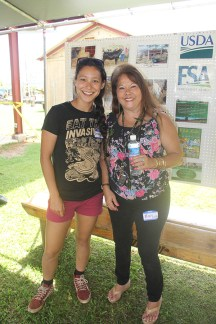 Rebekah Magers, left, and Mary Pigao