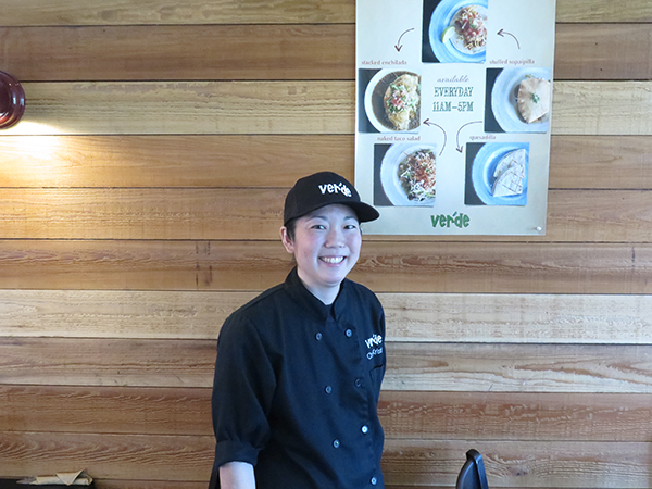 Kristin Yanagawa is the head chef at Verde's who is behind the new breakfast menu served Friday to Sunday.