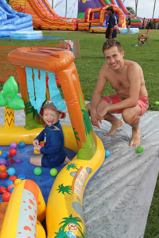 Max Ingham and son Chris Broomkee