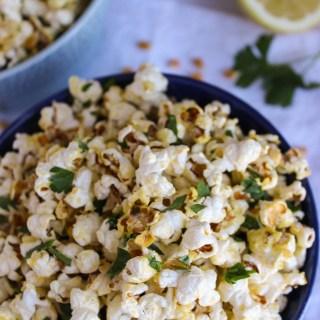 Parsley Lemon Popcorn