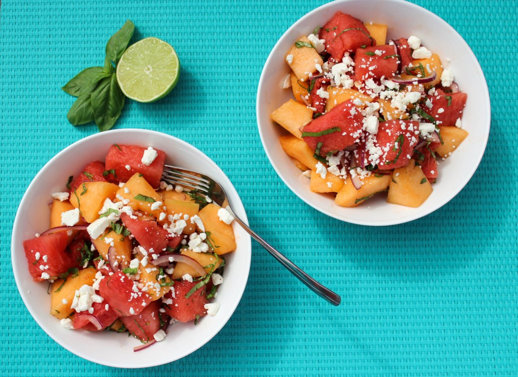 Melon Salad with Feta and Basil