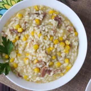 Corn and Prosciutto Risotto