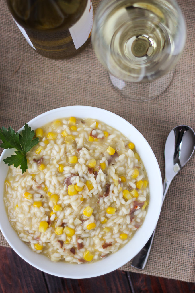 Corn and Prosciutto Risotto // Fork in the Kitchen