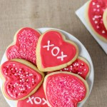 Melt in your mouth Valentine Cut-Out Cookies - the perfect way to celebrate!