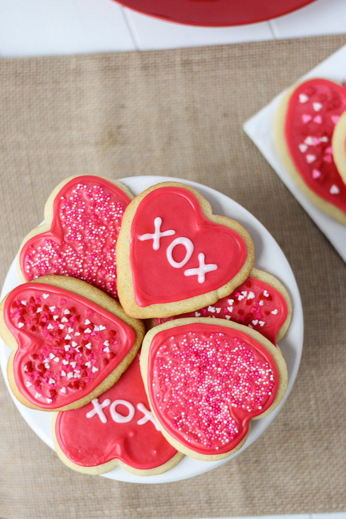 Melt in your mouth Valentine Cut-Out Sugar Cookies - the perfect way to celebrate!