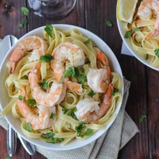 Shrimp Scampi for Two