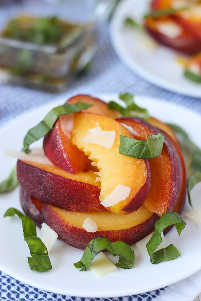 Peach Basil Salad // Fork in the Kitchen