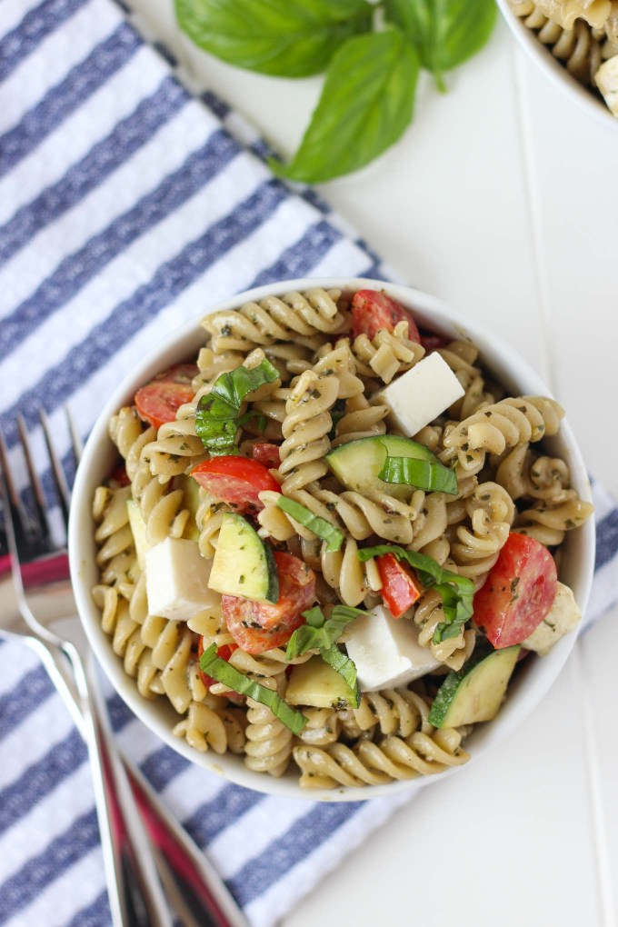 Summer Veggie Pesto Pasta Salad // Fork in the Kitchen