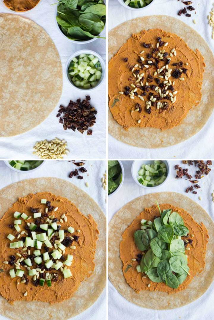 Sun-Dried Tomato Hummus Wrap // Fork in the Kitchen