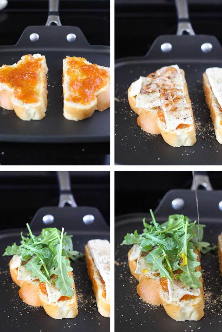 Apricot Brie Grilled Cheese on Challah // Fork in the Kitchen