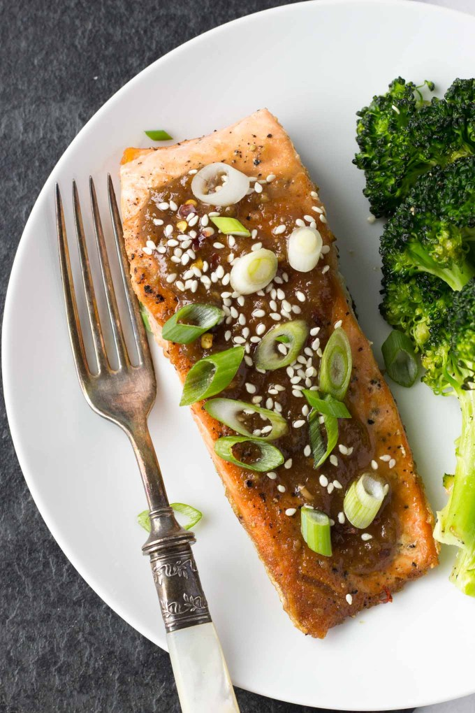 Miso Ginger Glazed Salmon | Fork in the Kitchen