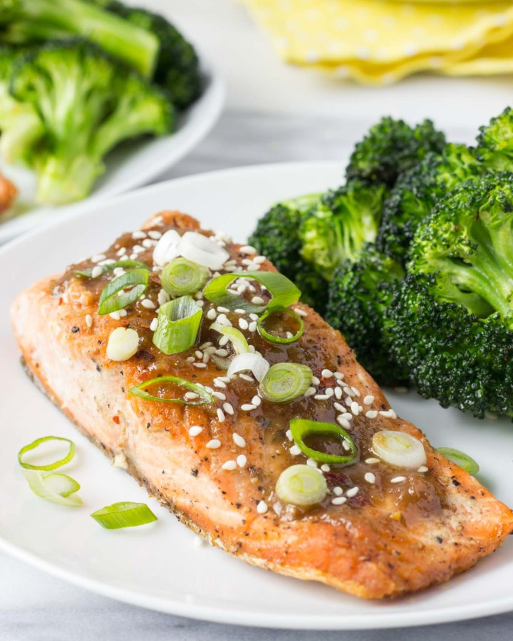 Ginger Miso Glazed Salmon | Fork in the Kitchen