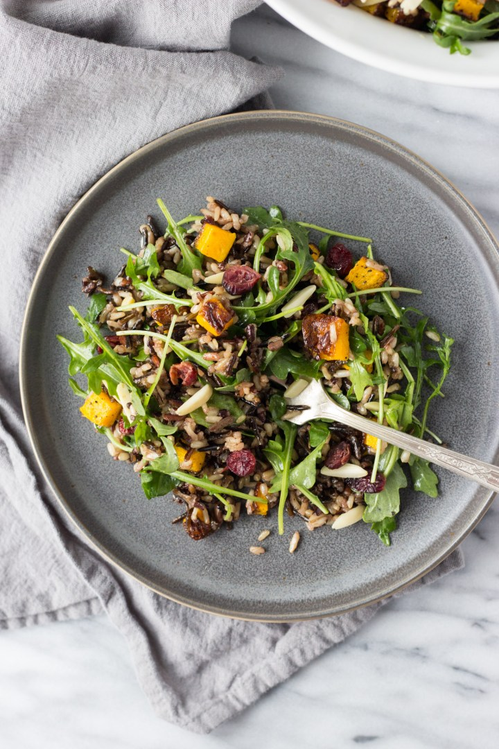 Wild Rice and Arugula Salad - an easy salad full of texture and flavor!   Fork in the Kitchen