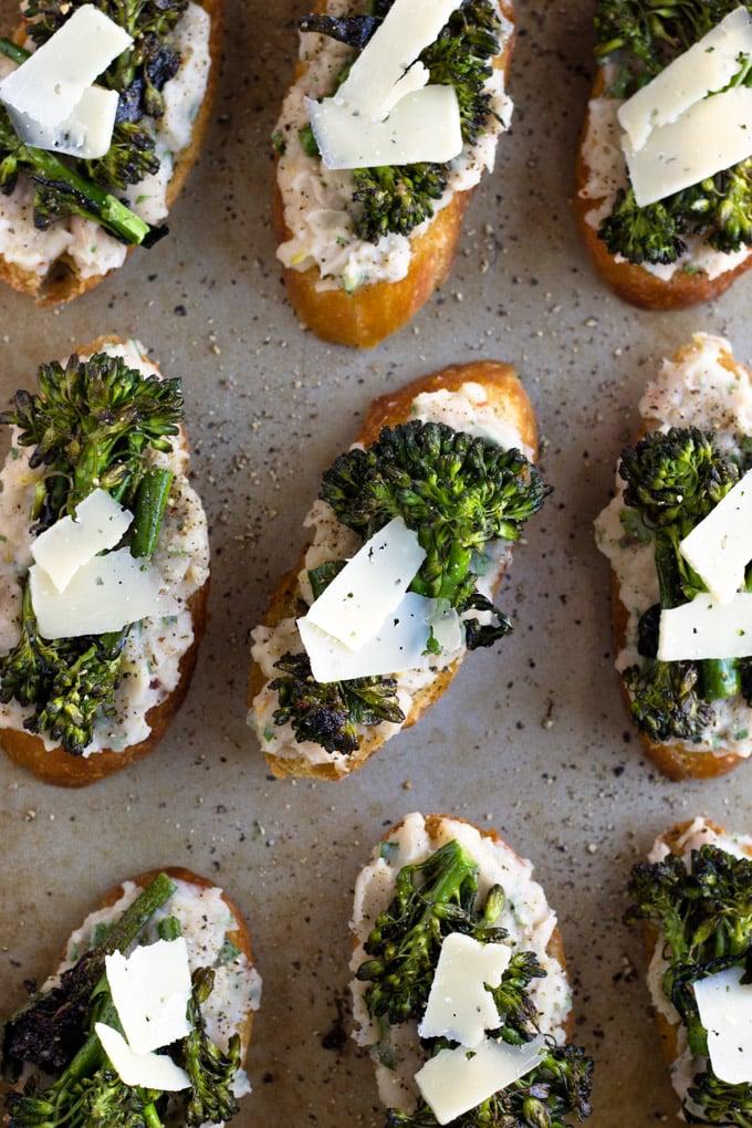 Broccolini and White Bean Crostini   Fork in the Kitchen