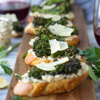 Broccolini and White Bean Crostini