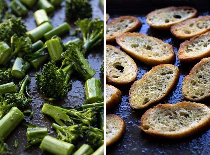 Broccolini and White Bean Crostini | Fork in the Kitchen