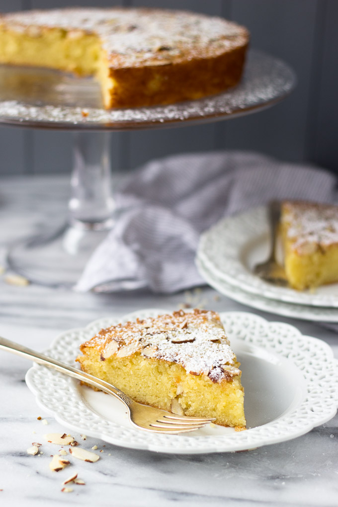 Almond Cardamom Cake is light and moist with strong almond flavor and a subtle complex cardamom flavor - excellent with coffee and best served warm with a sprinkle of powdered sugar!