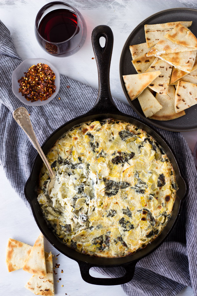 Creamy Artichoke Leek and Kale Dip | Fork in the Kitchen - A creamy, indulgent dip - with kale, leeks, and artichokes that add flavor, texture - that's changing theappetizer game!