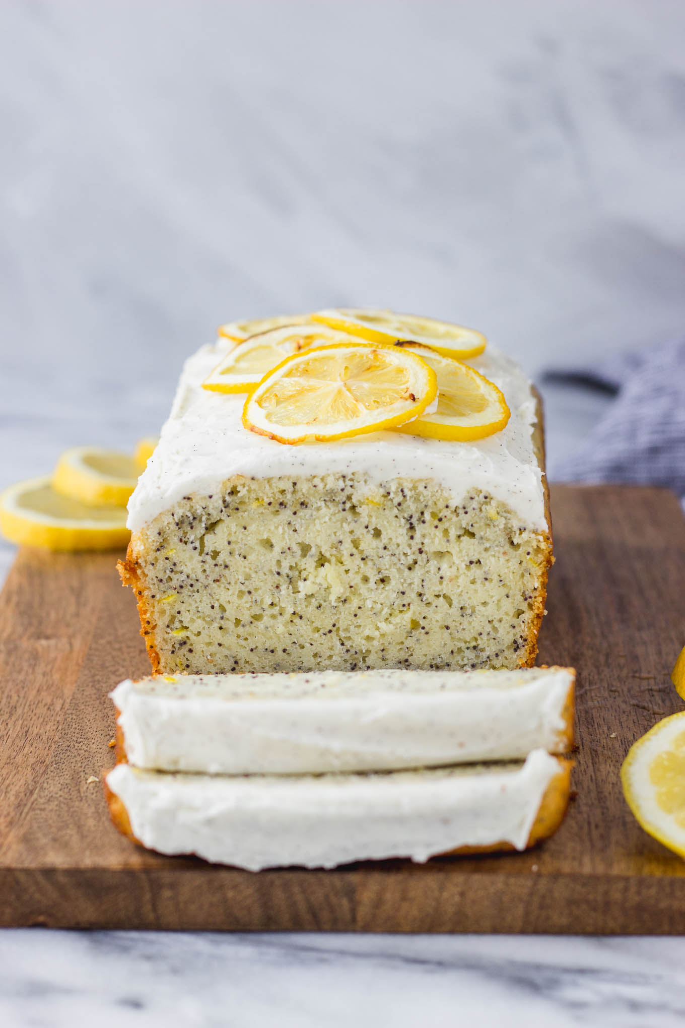 Lemon Poppy Seed Bread With Vanilla Bean Icing Fork In The Kitchen