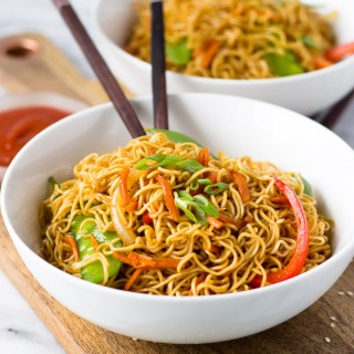 Vegetable Lo Mein for Two