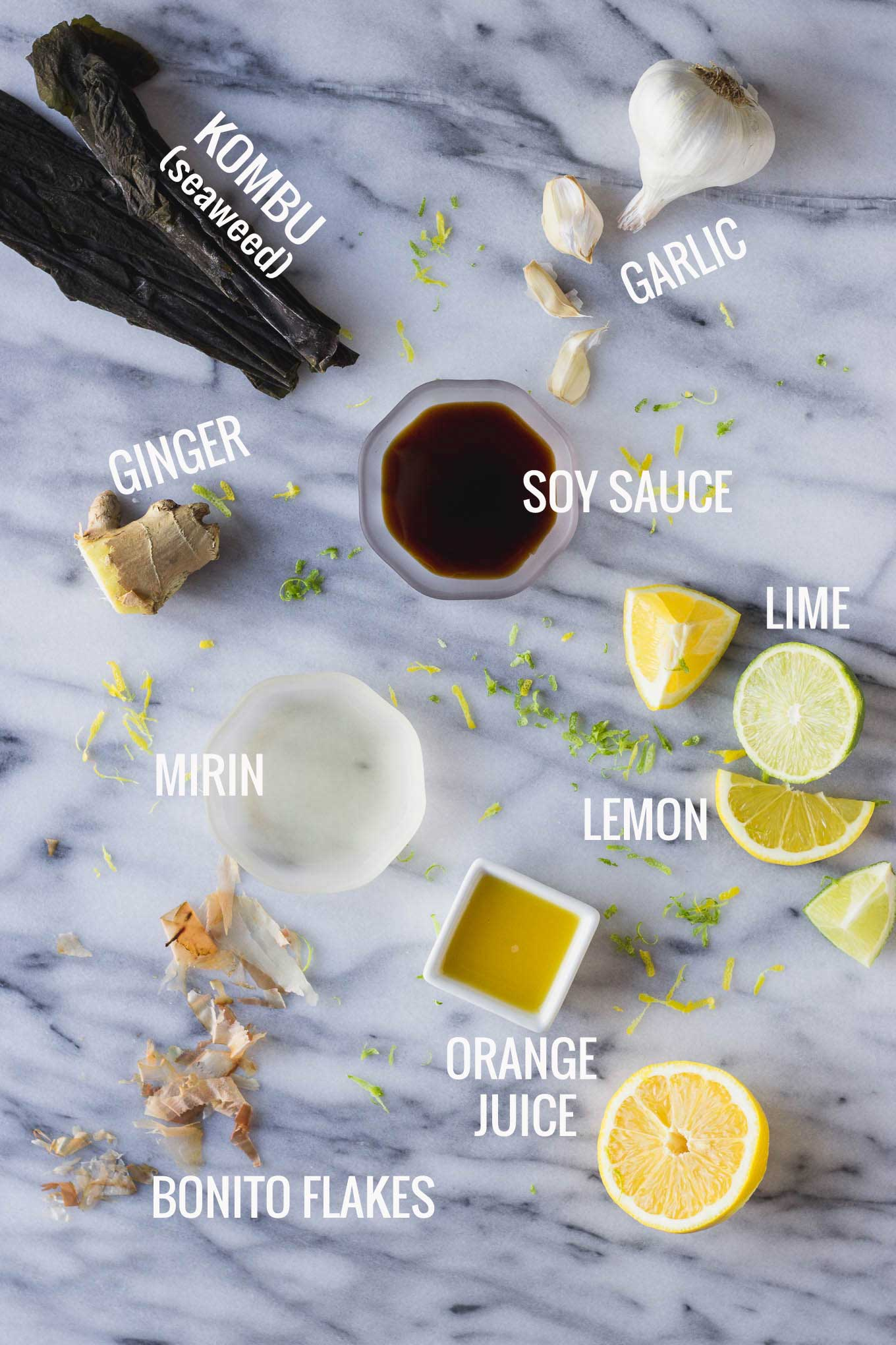 Homemade Ponzu Sauce - citrusy, tangy, sweet, and salty, the perfect dressing or dipping sauce! | Fork in the Kitchen