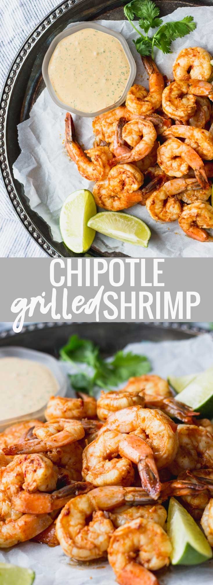 Chipotle Grilled Shrimp - a quick and easy summertime dinner, full of flavor and with endless pairings! #healthy #recipe #summer #shrimp #grill