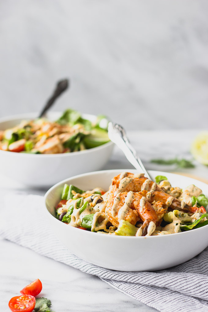 Spicy Chipotle Shrimp Salad | Fork in the Kitchen
