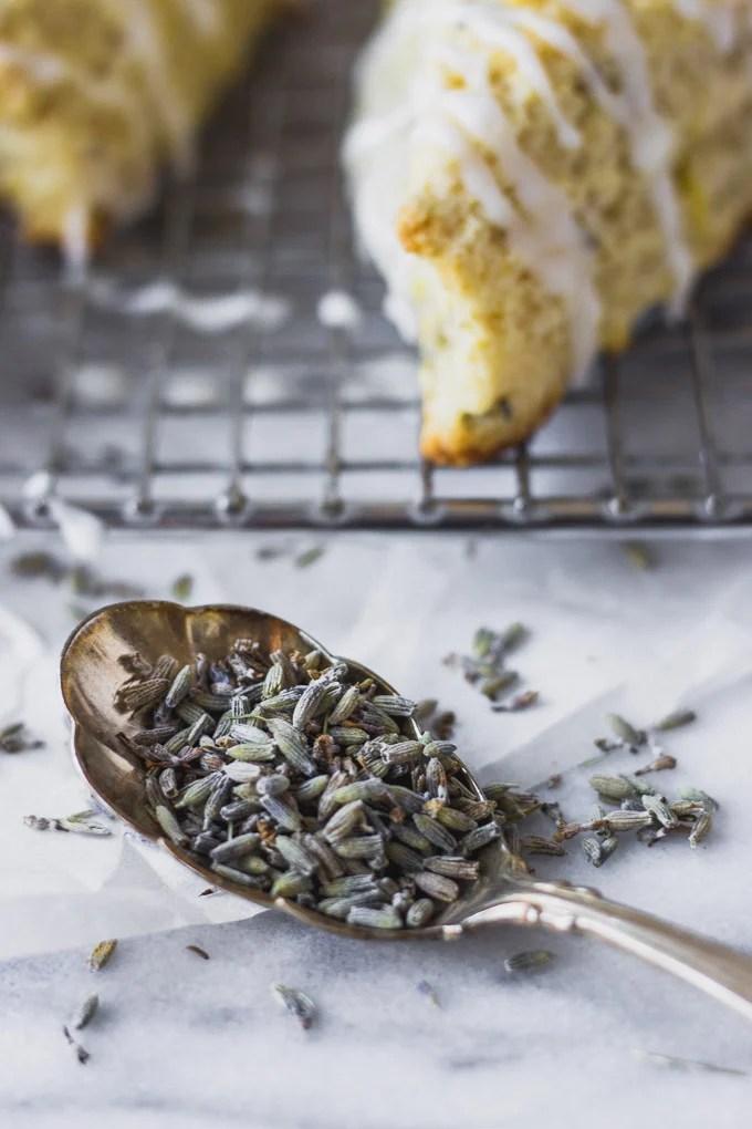 Lemon Lavender Scones - light, elegant scones perfect for spring or summer brunch! | Fork in the Kitchen