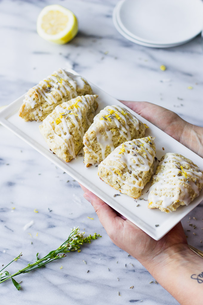 Lemon Lavender Scones - light, elegant scones perfect for spring or summer brunch! | Fork in the Kitchen