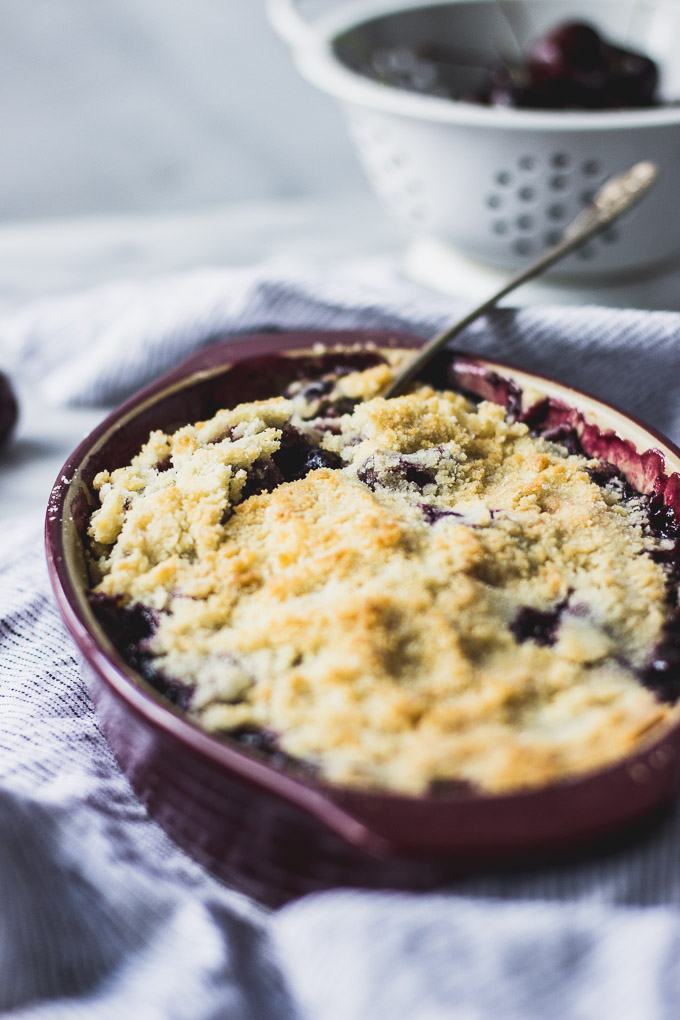 Small Batch Cherry Crisp | Fork in the Kitchen