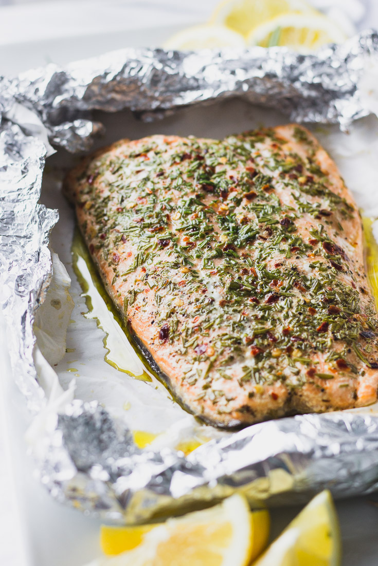 Rosemary Salmon Foil Packet - The most tender, flaky, luxurious salmon you'll ever have - the ultimate summer recipe that's incredibly easy! | Fork in the Kitchen