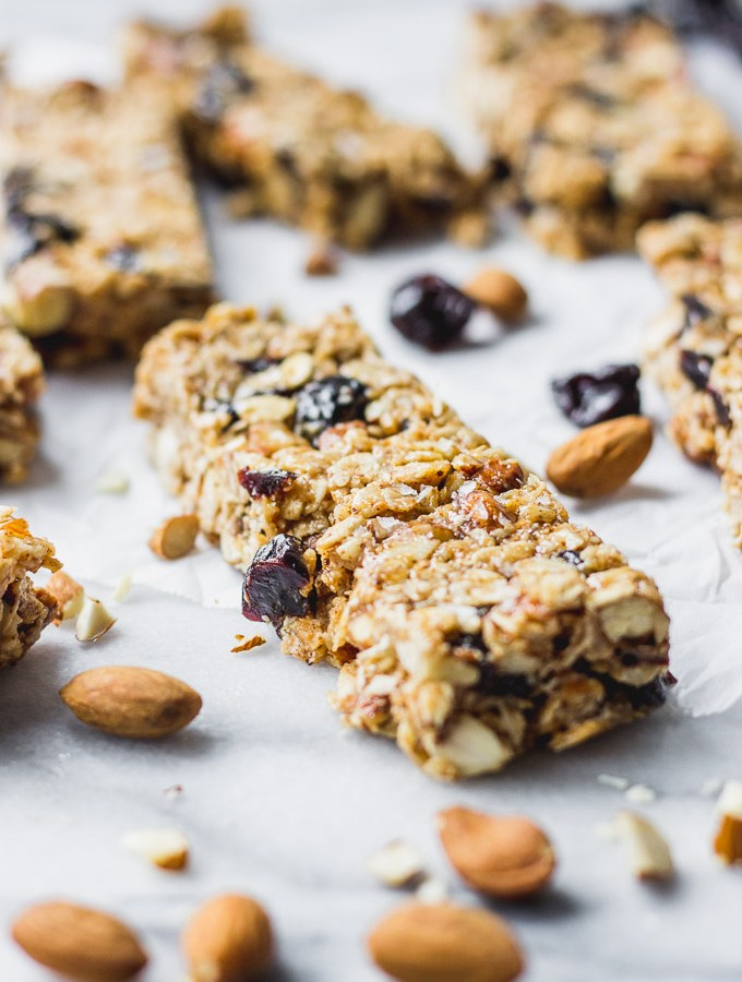 Cherry Almond Granola Bars