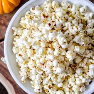 Spicy Parmesan Garlic Popcorn
