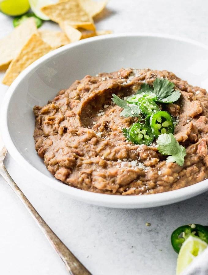 Instant Pot Vegetarian Refried Beans