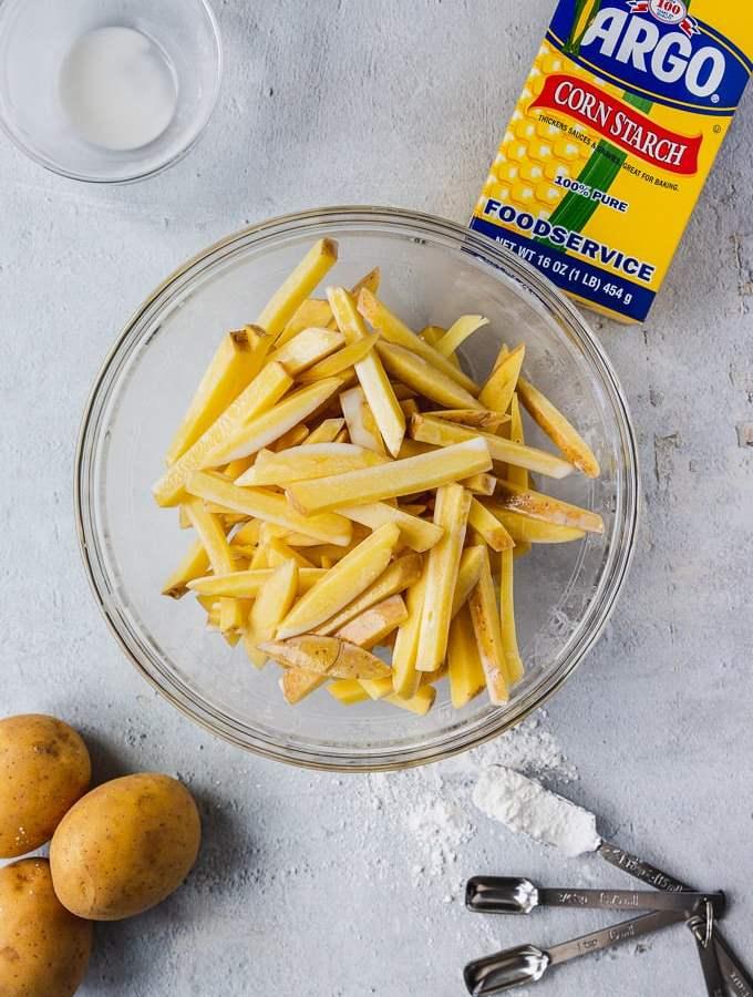 ingredients for crispy baked fries