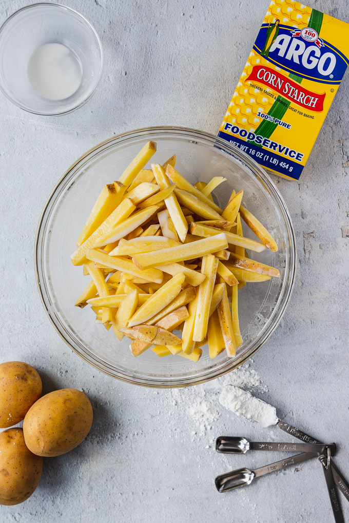 ingredients for crispy baked fries