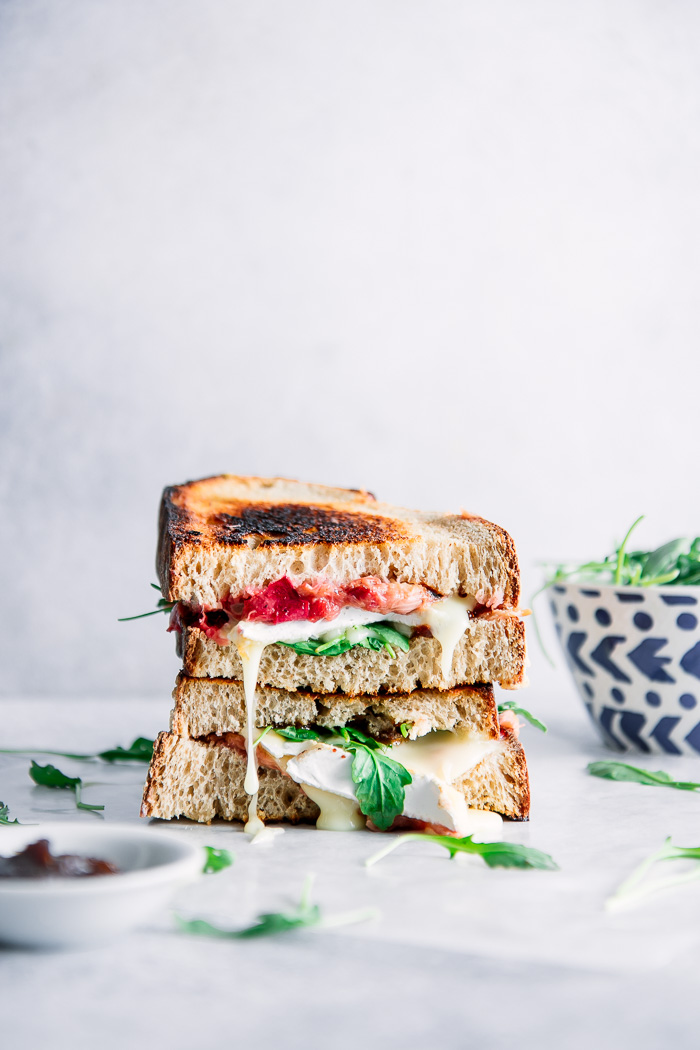 Roasted Rhubarb Brie Sandwich, Your New Sophisticated Summer Grilled Cheese