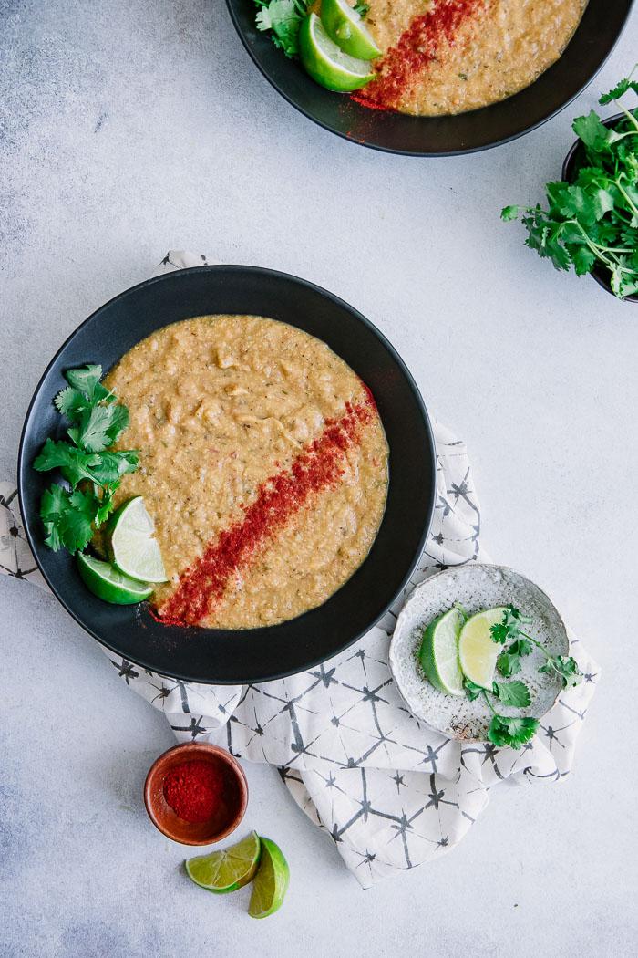 Vegan Roasted Corn Potato Soup