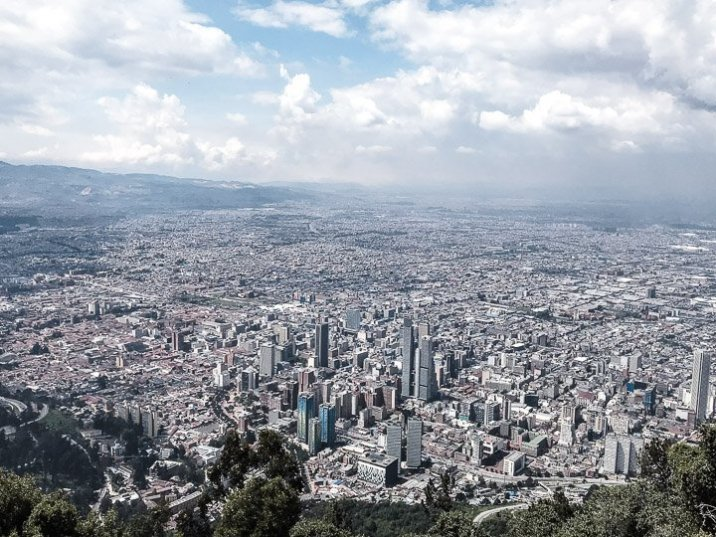 A view of Bogota from Montserrat.