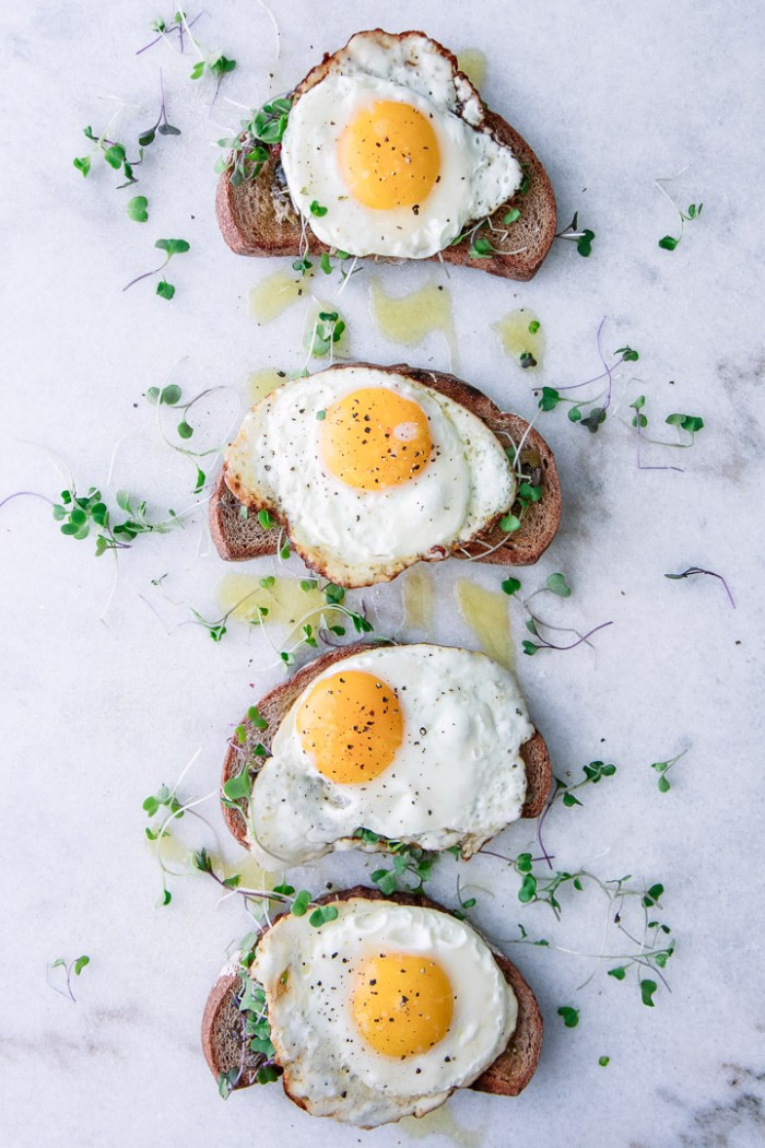 Olive Tapenade Crostini with Sunny Egg