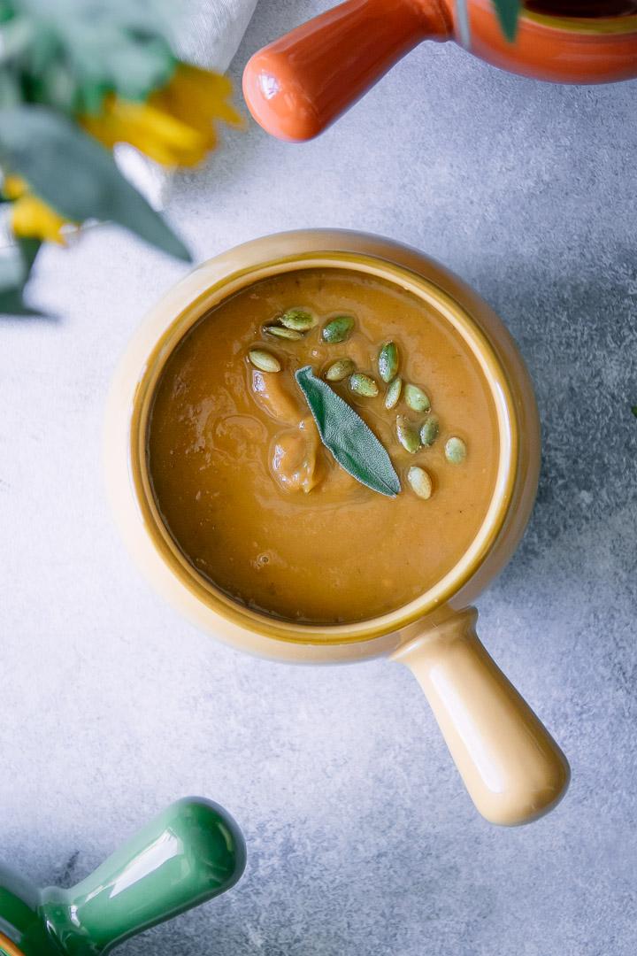 A big bowl of sweet potato soup