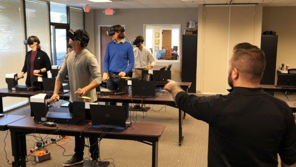 virtual reality forklift training school