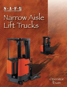 narrow aisle lift trucks operator's exam