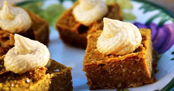PumpkinSquares570 Pumpkin Pie Squares