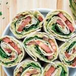 Avocado White Bean Salad Wraps