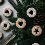 Macadamia Nut Linzer Cookies + Boysenberry Jam